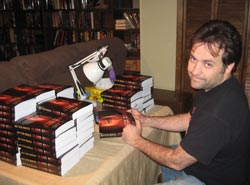 Author signs Blood Born