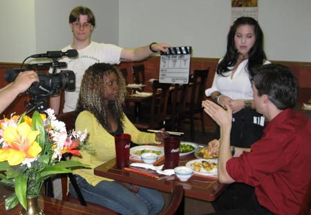 Jennifer and Rob, played by Monique Dupree and Mikiah Umbertis, go on their first date to a Chinese restaurant. Noelle Tremblay plays the rude waitress.