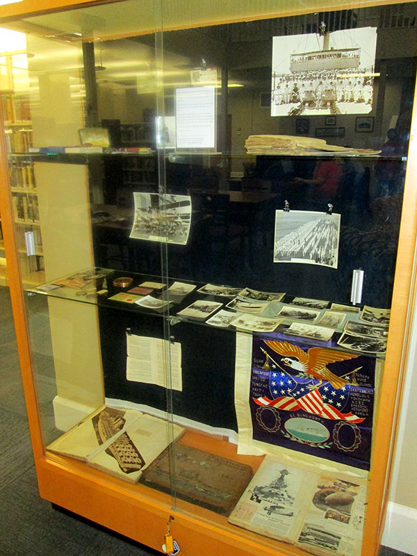View of the whole display case.