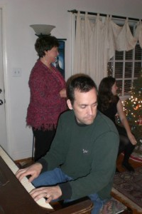 Me playing at a Christmas party last year.