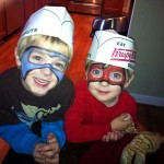 Meanwhile, my sons, Owen and Thomas, matriculated at the KrispyKreme School for Gifted Youngsters. So far, they have only designed their super hero costumes, but we're expecting great things from them.