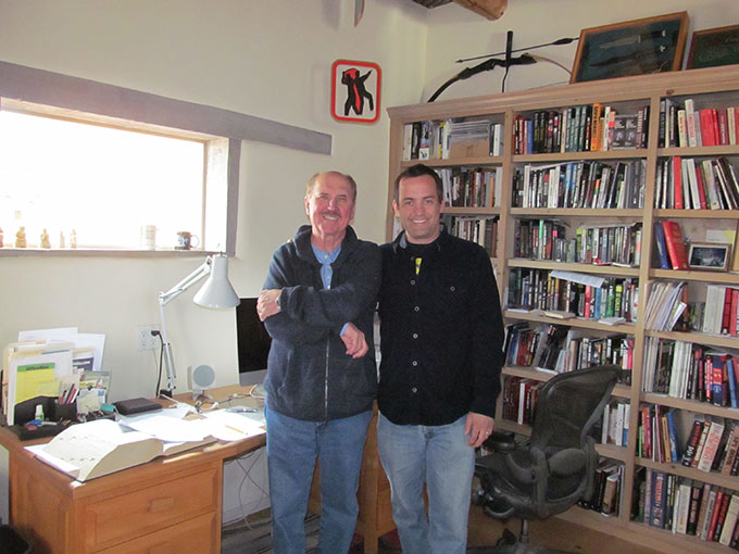 With Rambo creator David Morrell in his office. I didn't crop this photo so you can see all the cool stuff in there.